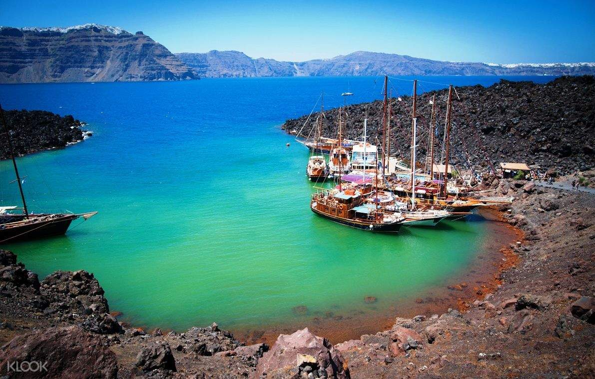 Santorini Volcano Hot Springs And Thirassia Island One Day Cruise Tour With Oia Sunset