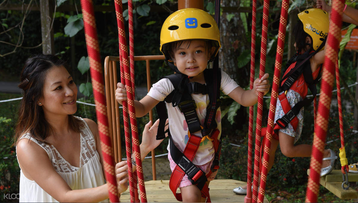Build confidence in your little ones as you watch them enjoy in the ropes course