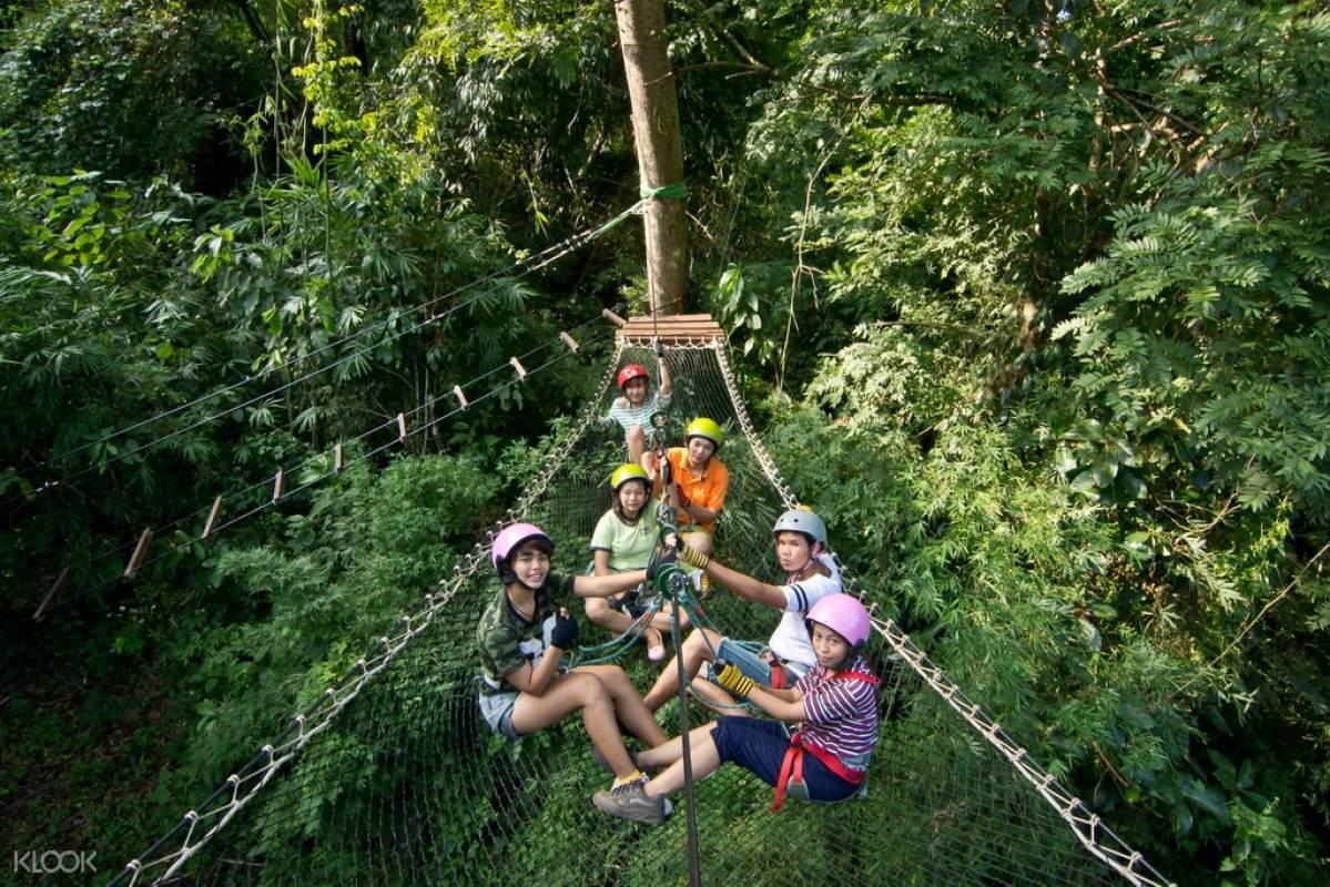 泰國北碧Kanchanaburi 樹頂冒險樂園