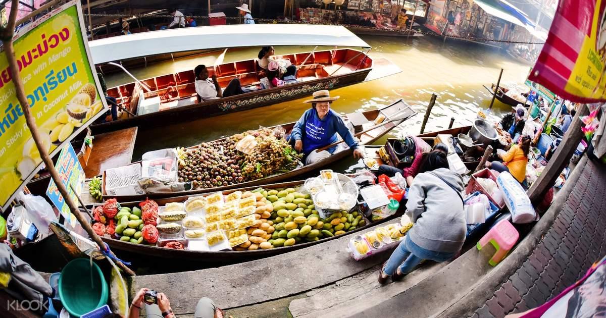曼谷丹嫩莎朵水上市場 & 大皇宮半日遊 - KLOOK客路