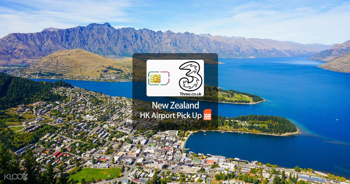 3G/4G SIM Card (HK Airport Pick Up) for New Zealand from