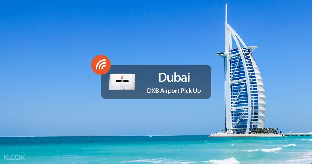 4G Portable WiFi Rental DXB Airport Pickup for Dubai Klook