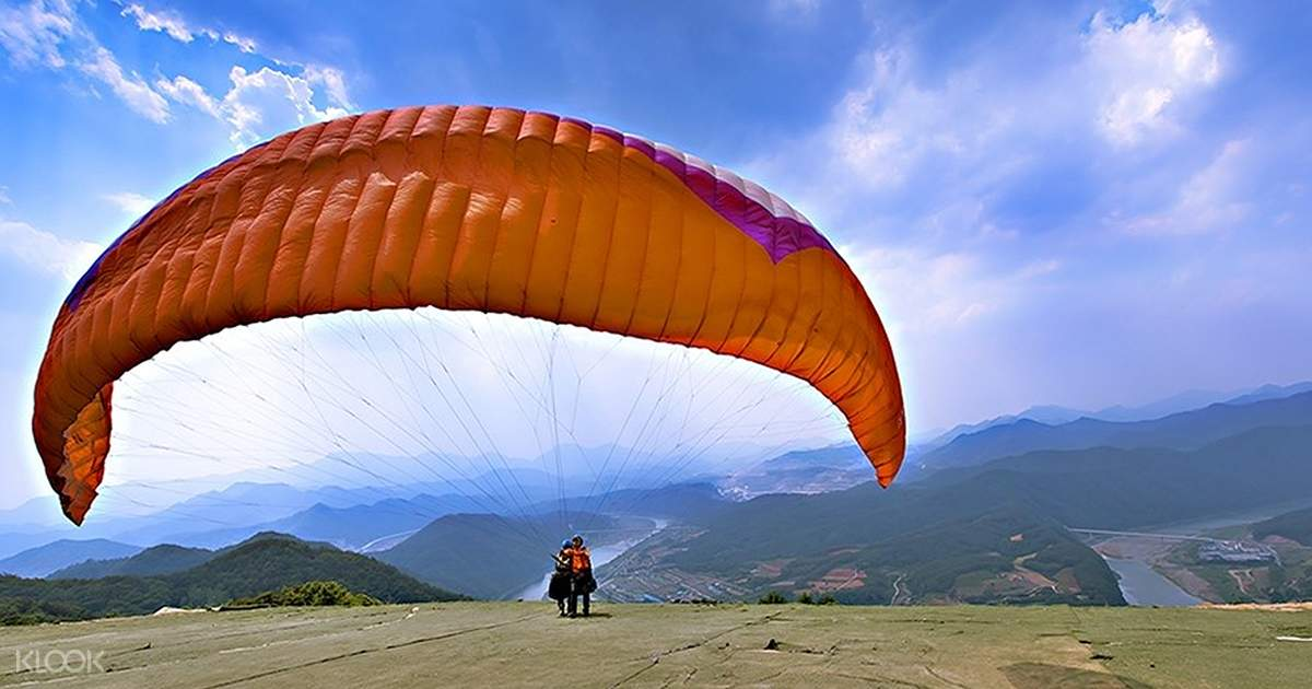 Ondal Tourist Park and Paragliding Trip in Danyang from