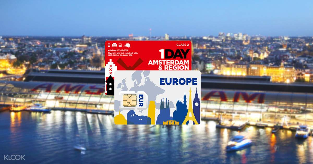 Amsterdam And Regional Travel Card With 4g Sim Card For Europe Klook India