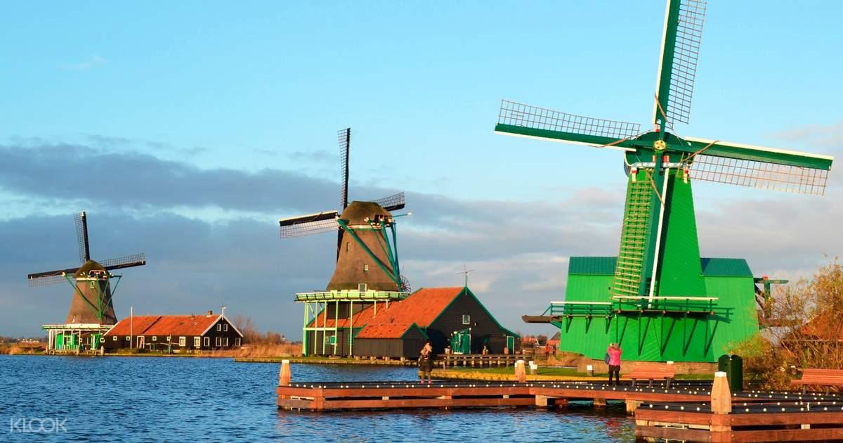 Half Day Tour to Zaanse Schans Windmill Village from