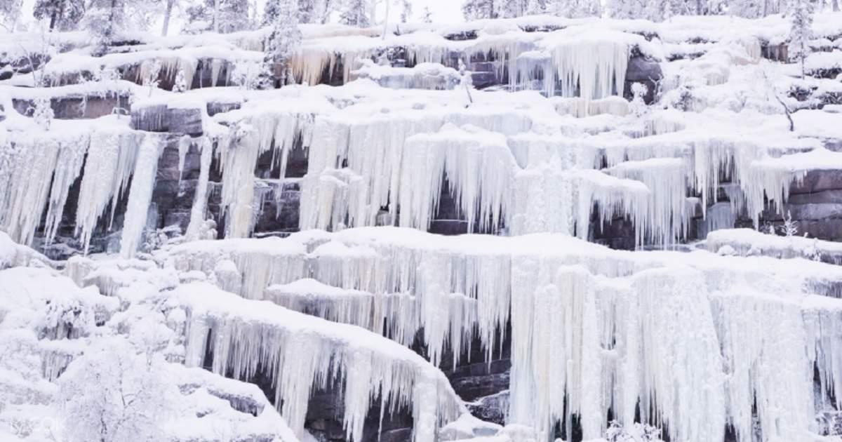 Korouoma Frozen Waterfalls Day Tour from Rovaniem, Lapland, Finland - Klook