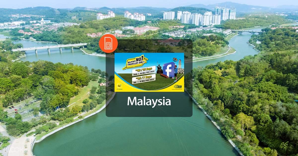 Digi 4g Prepaid Sim Card For Malaysia Klook