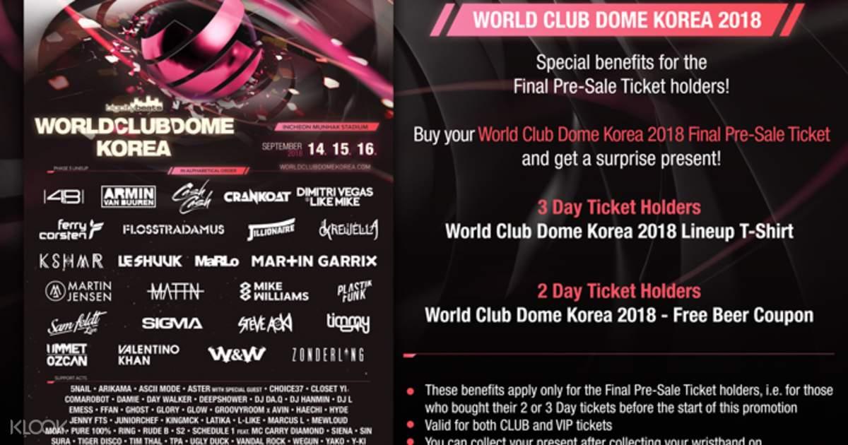 BigCityBeats World Club Dome Korea 2018 Ticket in Seoul