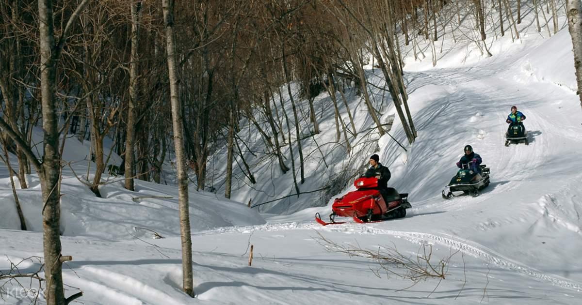 Sapporo Snowmobile Land + Free Snow Park in Hokkaido