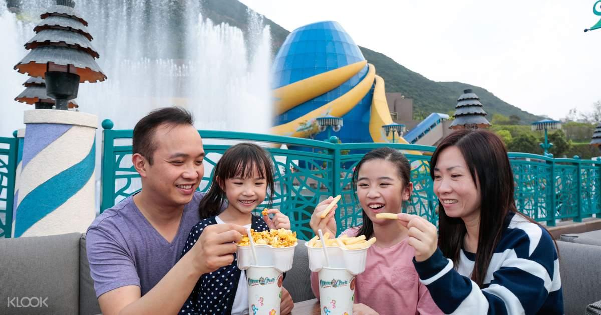 Ocean Park Hong Kong Tickets plus Optional Meals, Coupon