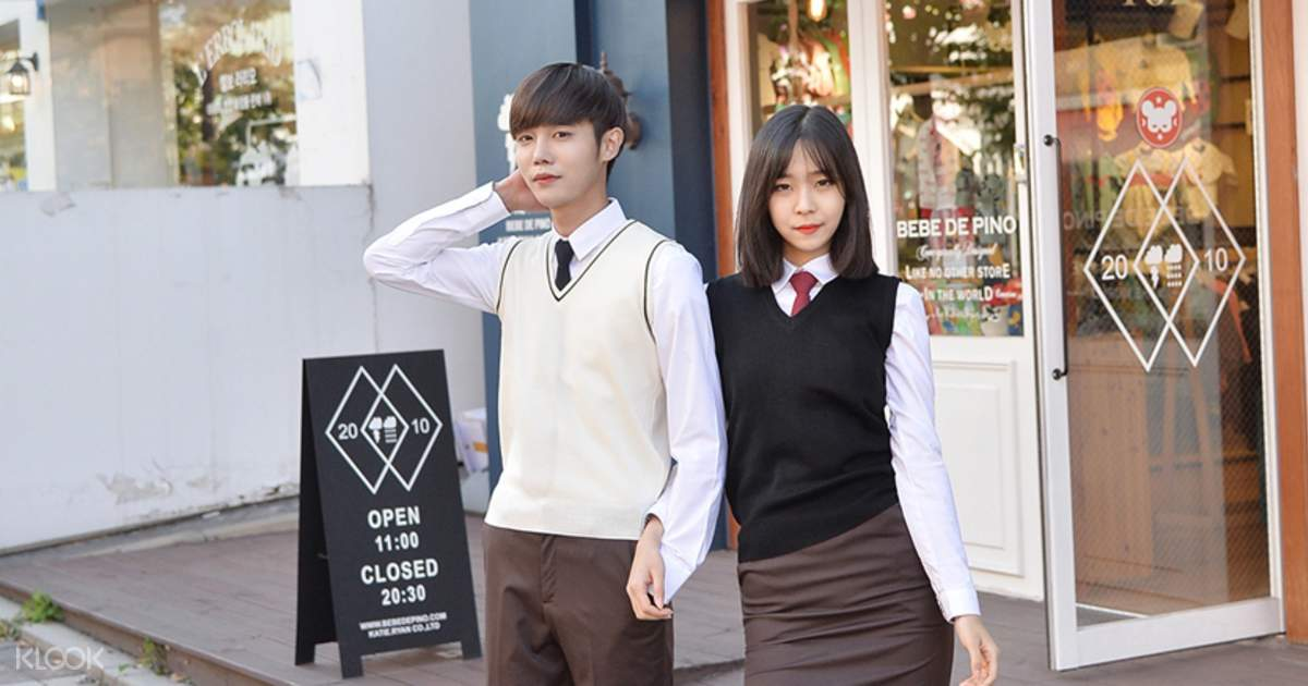 Gyobokmall Korean School Uniform Rental Seoul South Korea