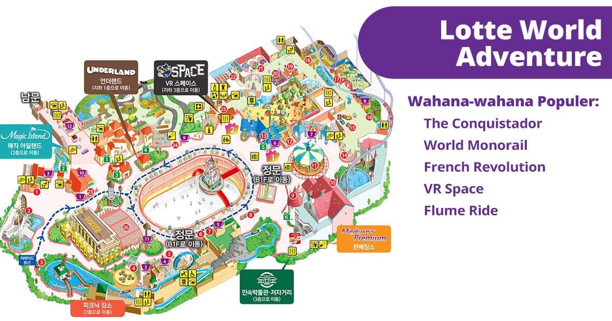 1 Day Pass Lotte World Theme Park Dengan Tiket Aquarium