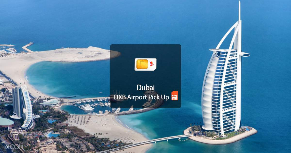 4G SIM Card (DXB Airport Pick Up) for UAE from Dubai