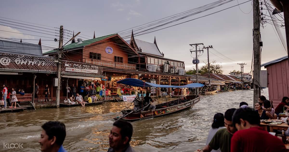 Maeklong Train Market and Amphawa Floating Night Market
