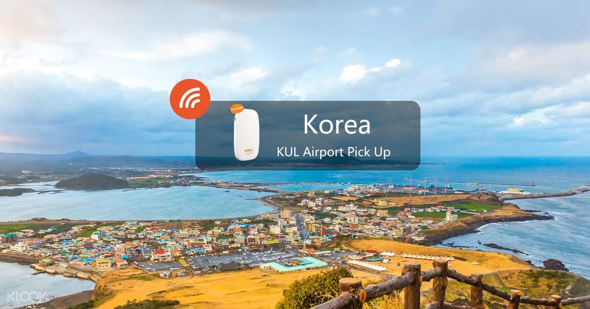 4G WiFi Device Kuala Lumpur Airport Pick Up for Korea - Klook