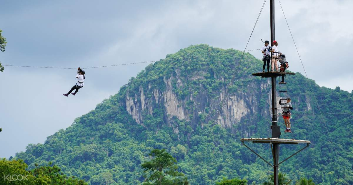 Zipline at Pattaya Tarzan Extreme Park in Pattaya