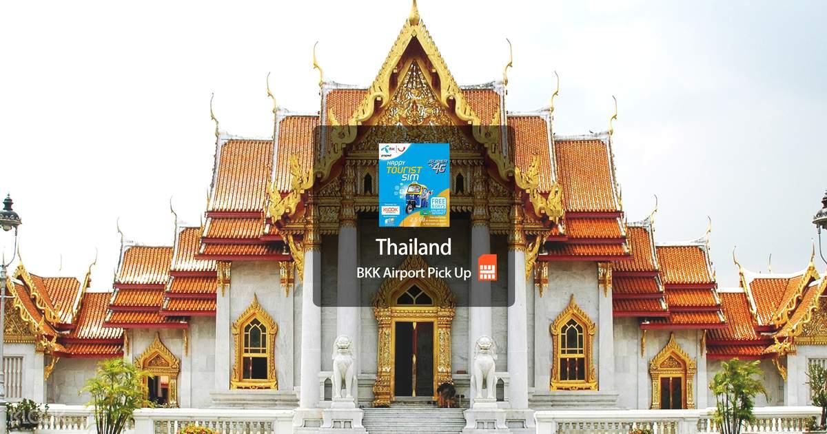 4G SIM Card (DTAC Counter at BKK Airport Pick Up) for