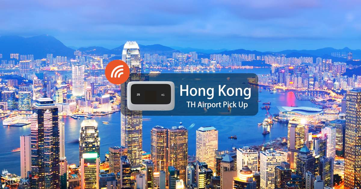 4G WiFi (TH Airport Pick Up) for Hong Kong - Klook