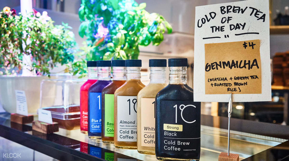 Assortment of Cold Brew Tea at The Social Space in Outram Park