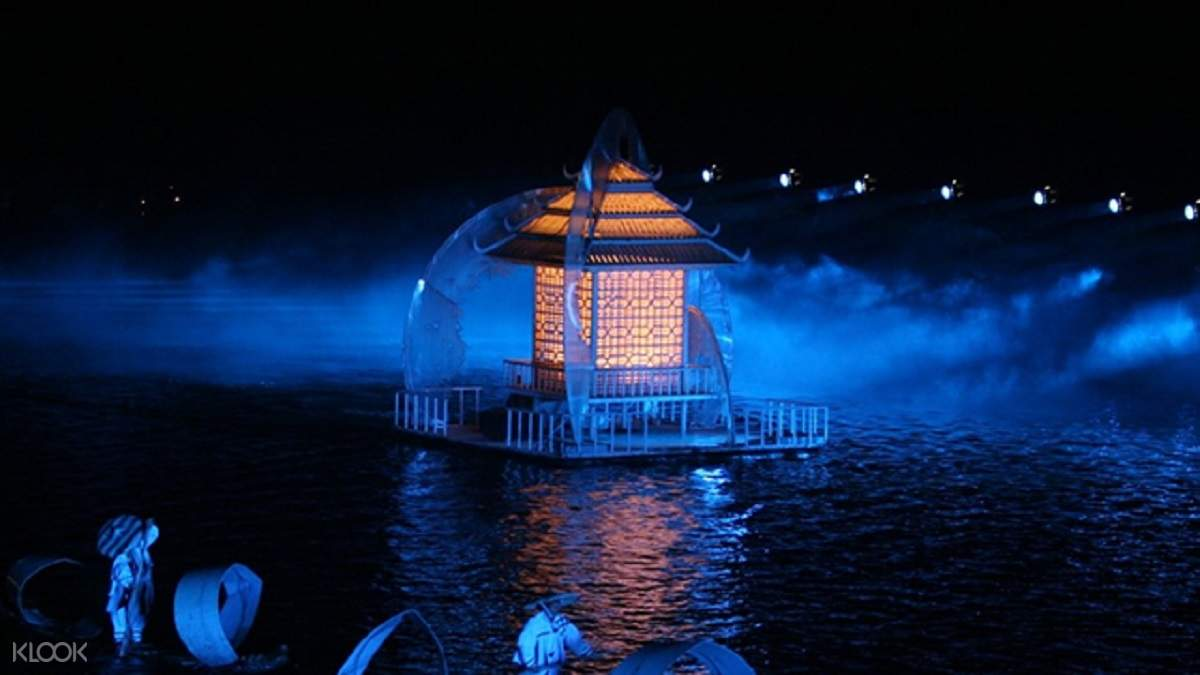 stunning stage production on the li river stage for the impression sanjie liu show