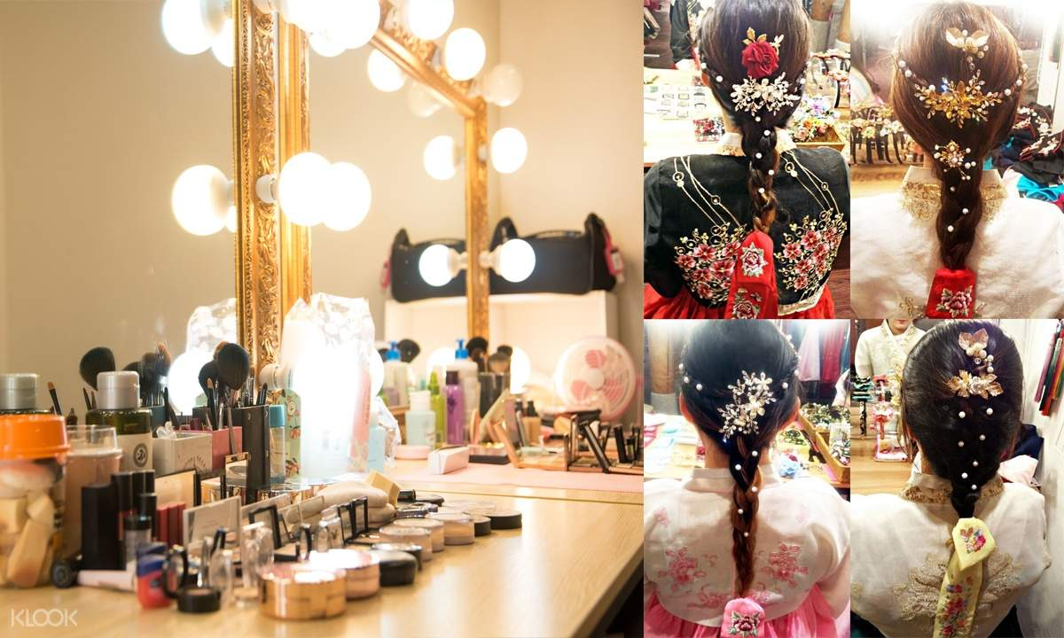 make-up station and hair styling and accessories