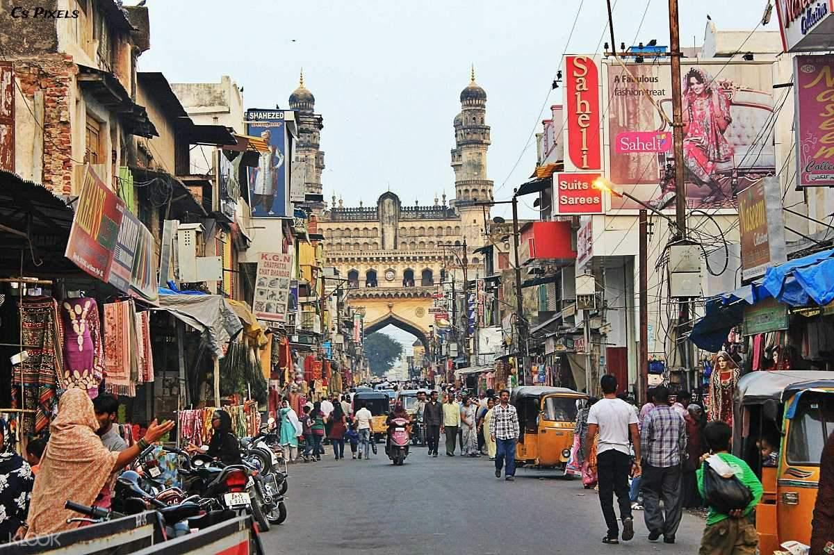 印度海得拉巴古蹟徒步之旅(查米納塔門& 麥加清真寺& 拉德市場& 喬瑪哈拉宮)