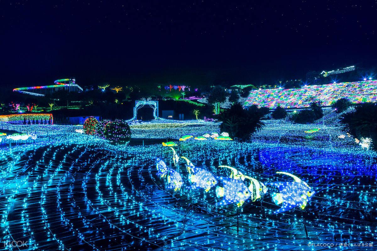 izu granpal park illumination show
