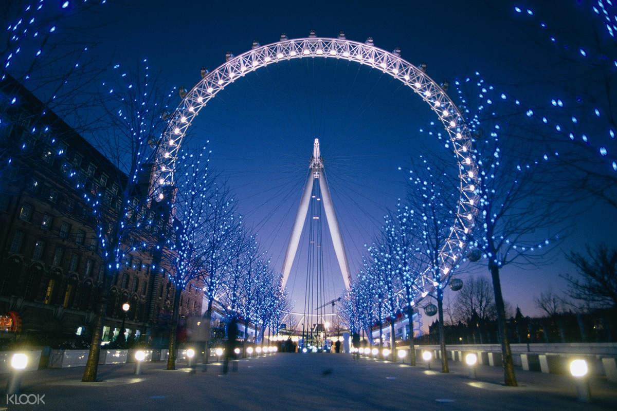 夜晚的伦敦眼