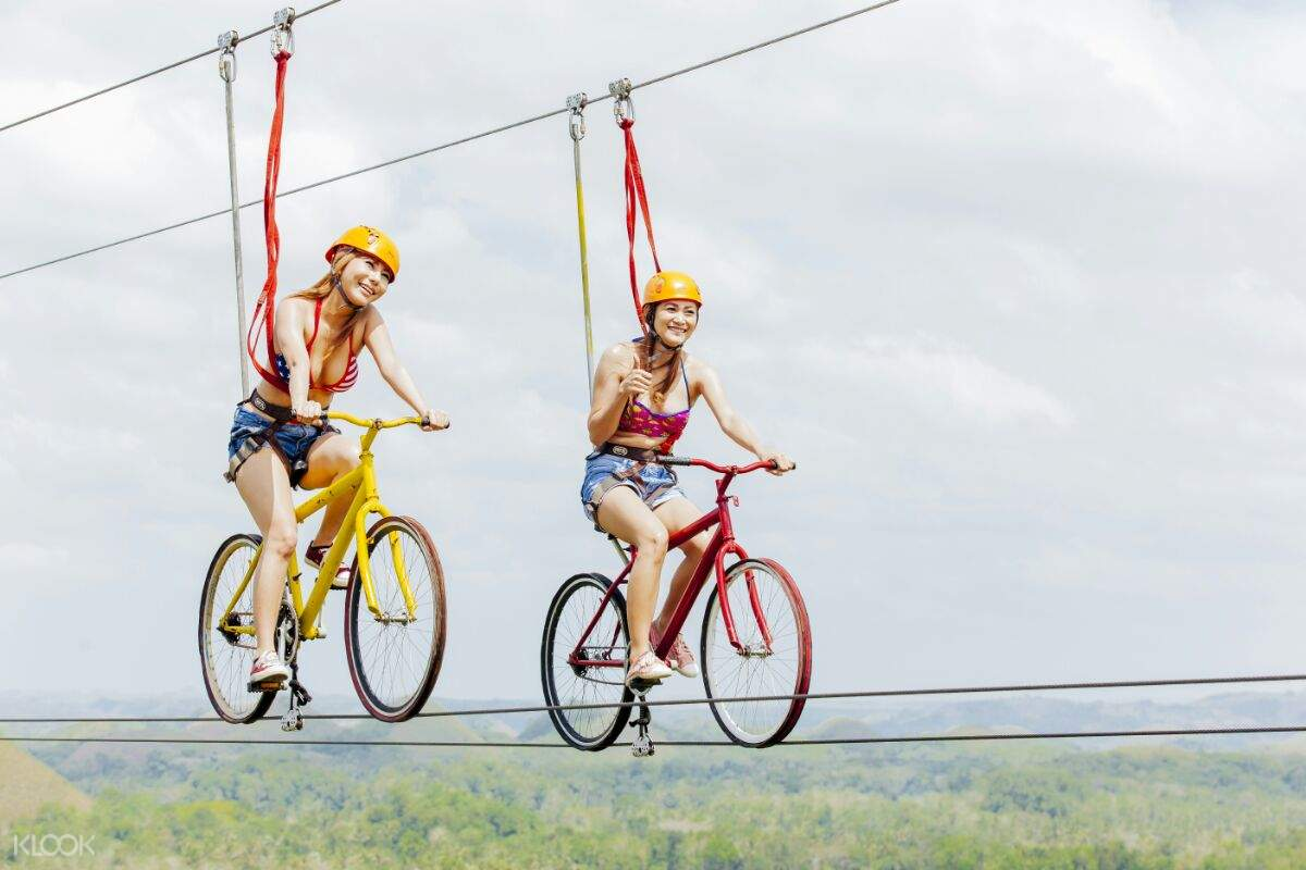 rush bike zip chocolate hills adventure park bohol
