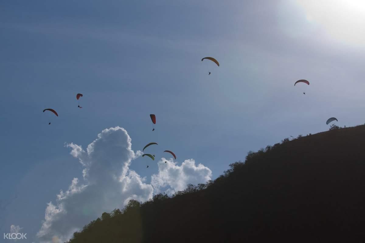 paragliders in manila