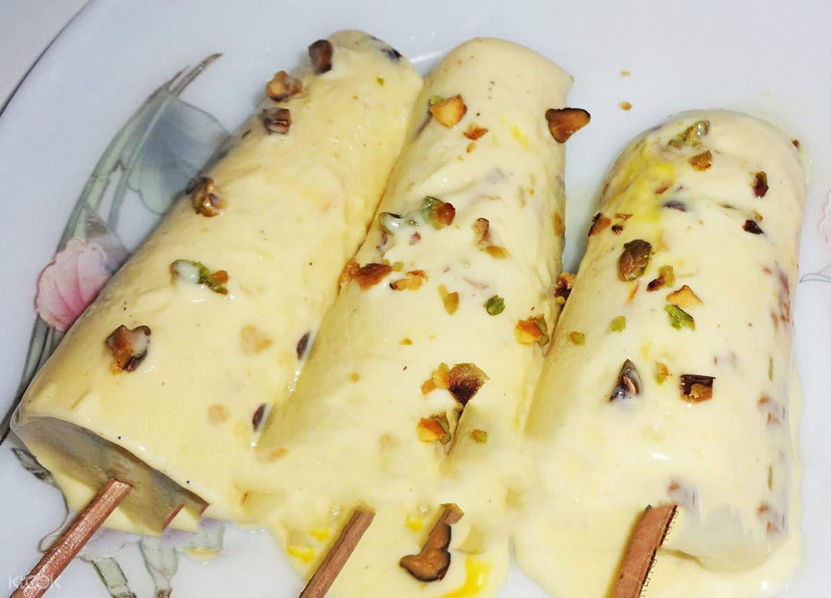 焦特布尔冰淇淋冰凉的kesar kulfi