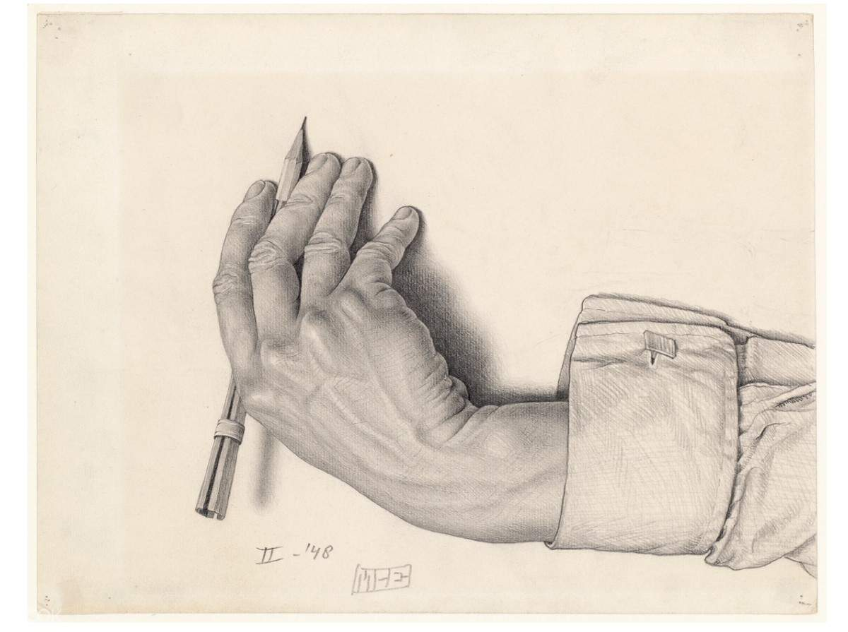 hand drawing by Escher