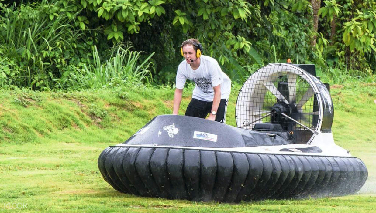 hovercraft on land