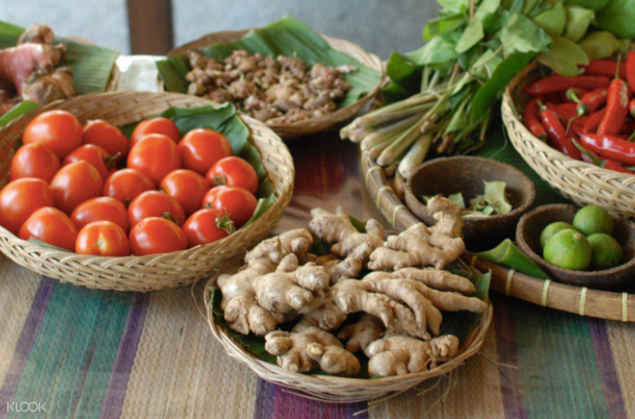 ingredients for ketut's bali cooking class