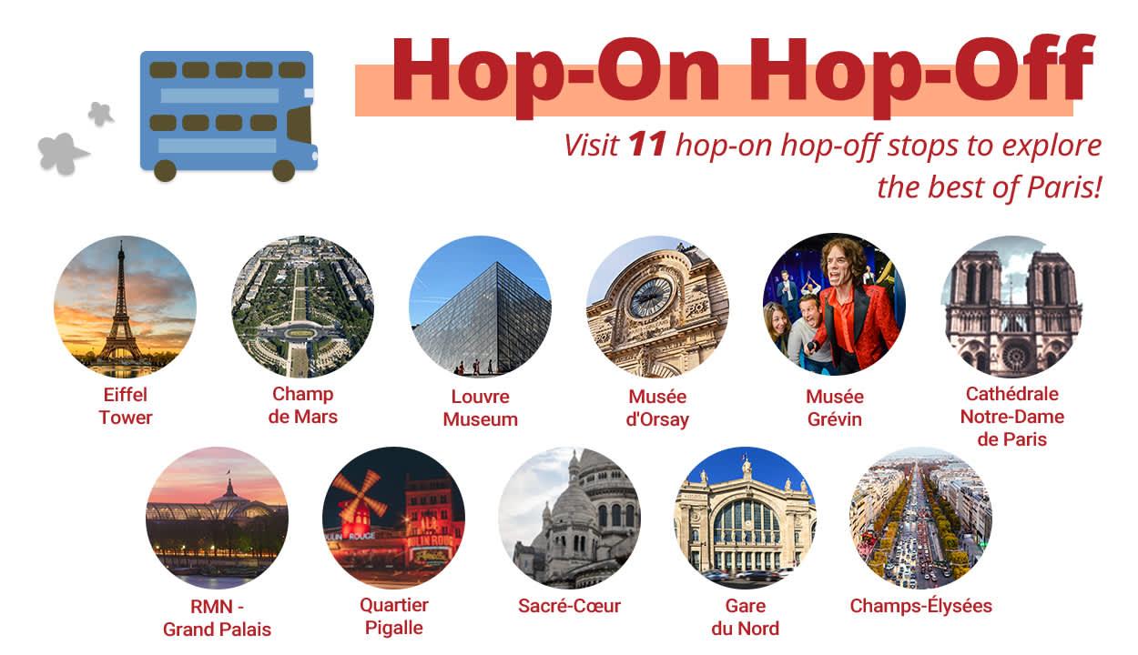 paris hop-on hop-off stops
