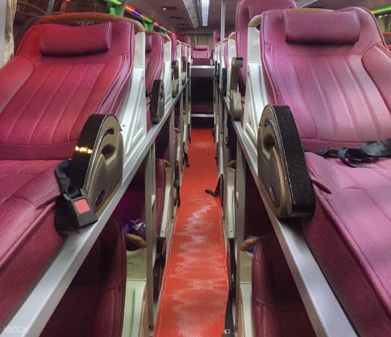 comfortable trung nga sleeper bus premium seats