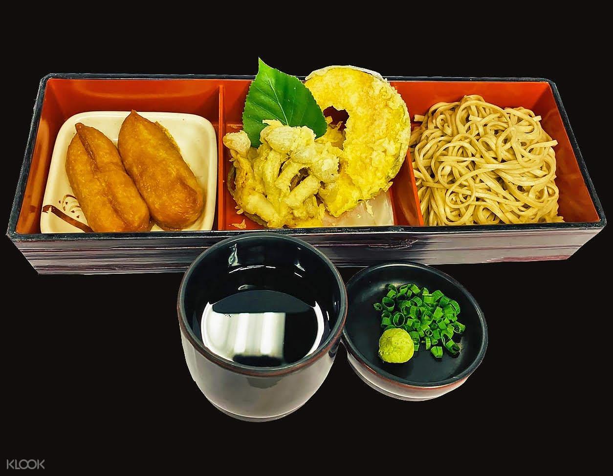 soba with tempura set