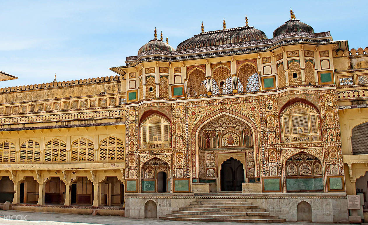 view of Amber Palace in Jaipur