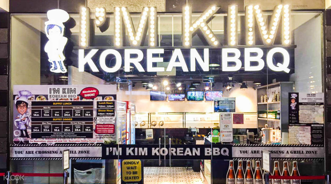 Exterior of I'm Kim Korean BBQ in Dhoby Ghaut