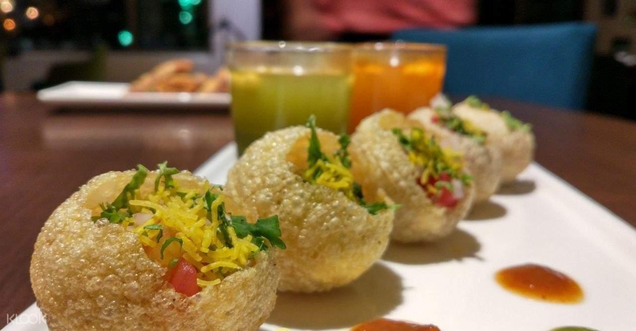 印度 海得拉巴街頭美食 灌湯脆球餅