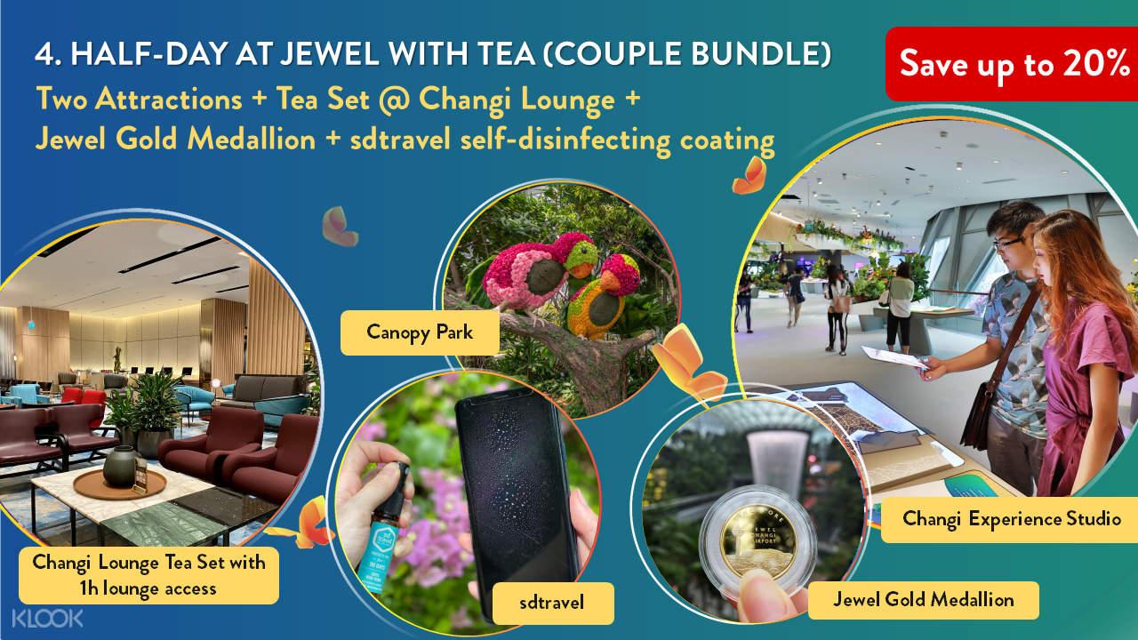 4. Half Day at Jewel with Tea (Couple Bundle)