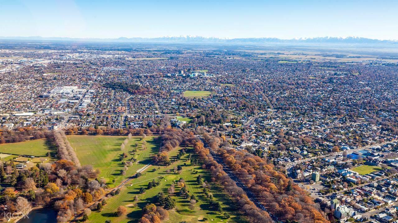 birds eye view of Christchurch