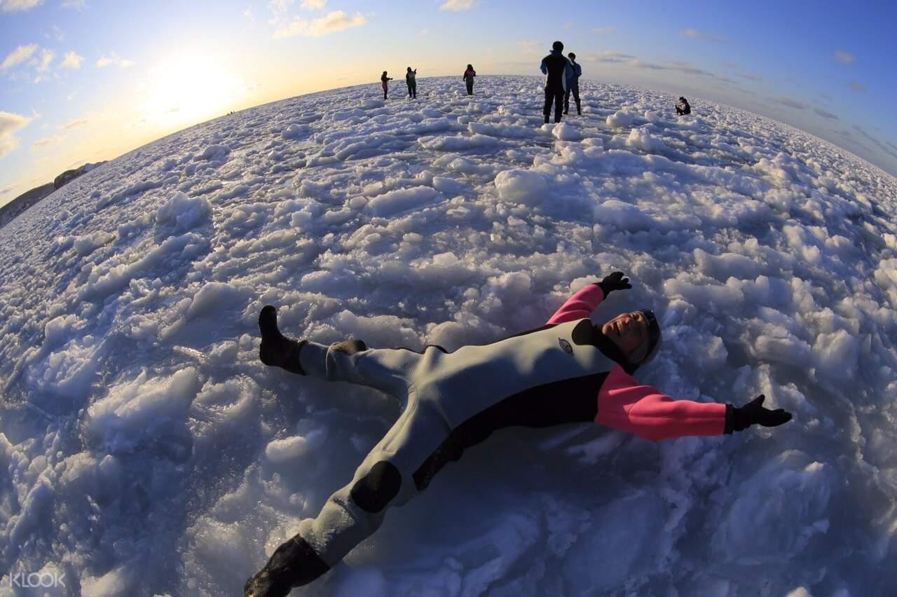 snow angels drift ice walk