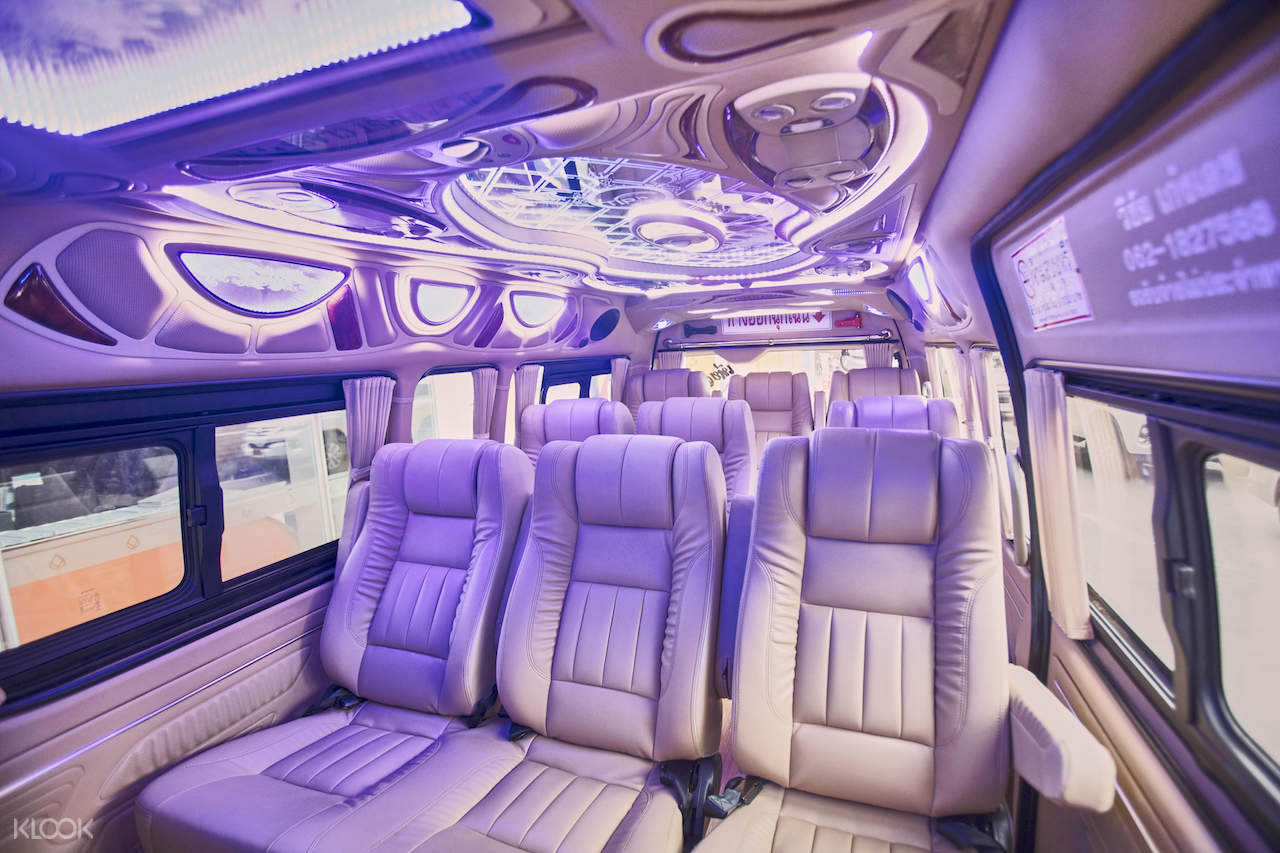 interior of phuket private car charter