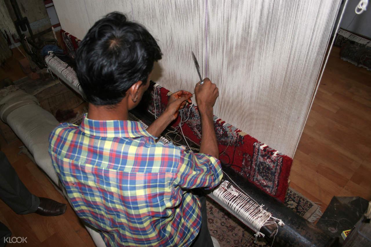 阿格拉 莫卧儿王朝 地毯编织