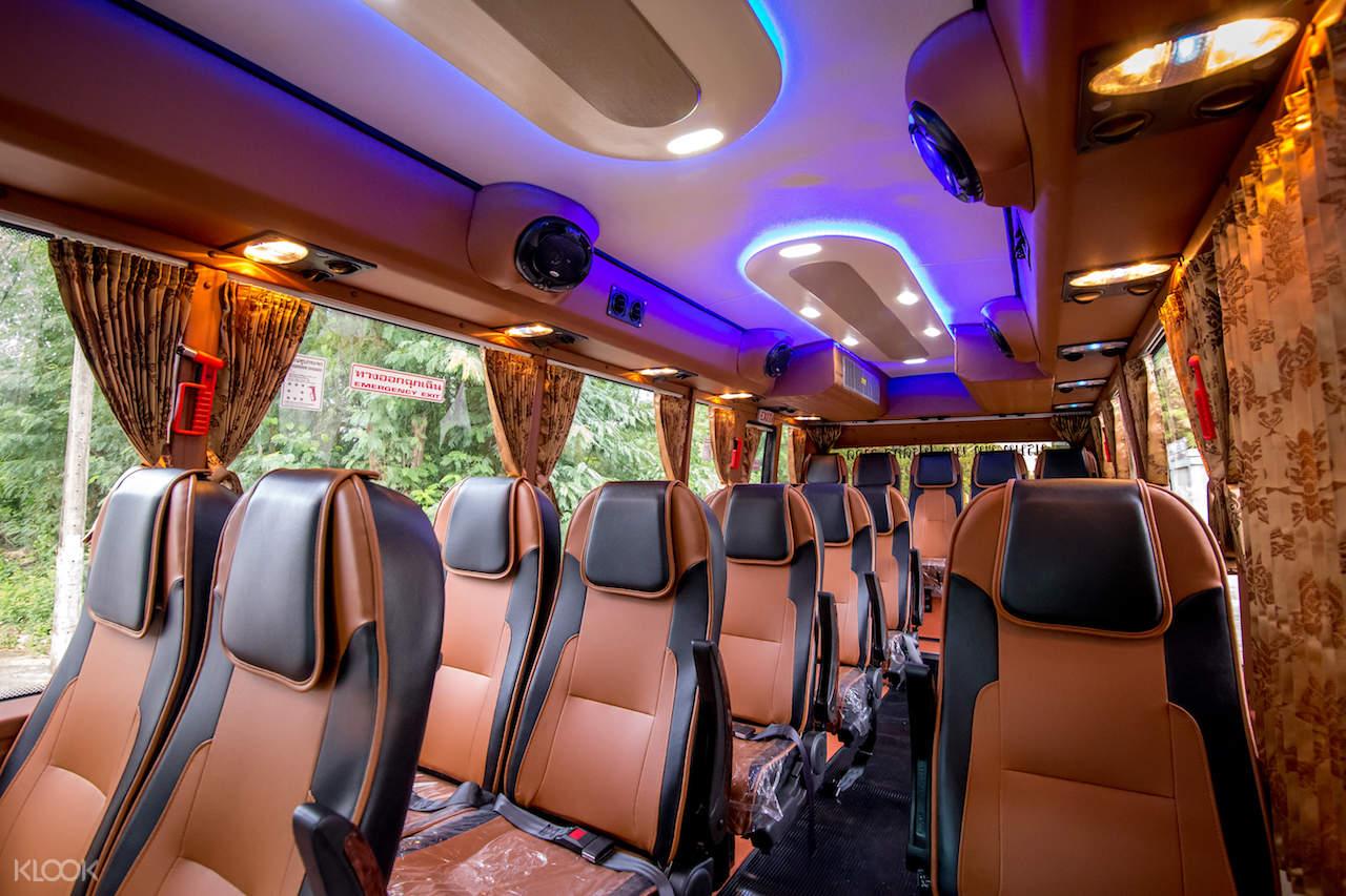 inside minibus