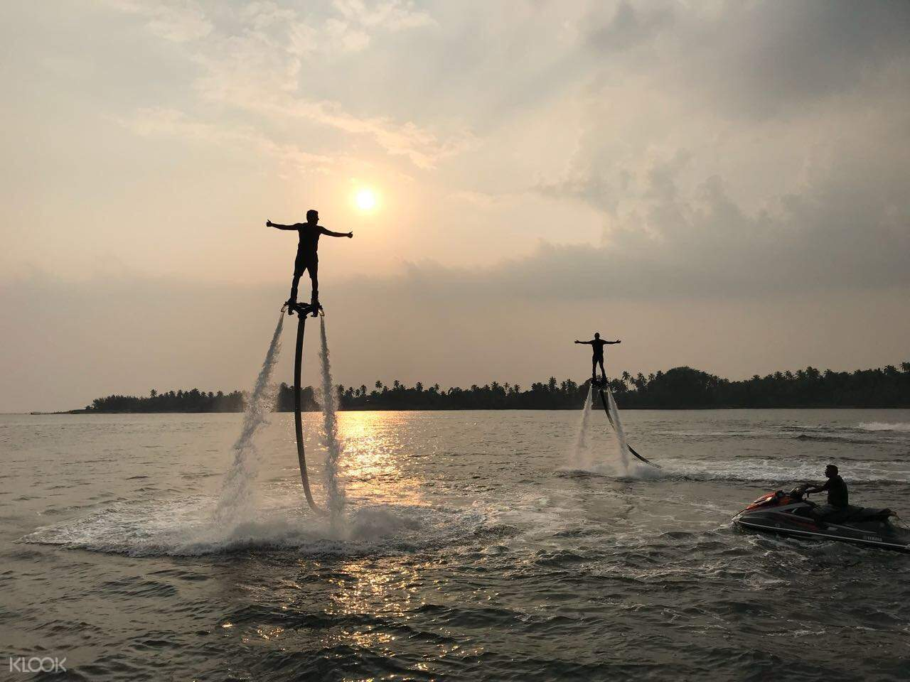 Flyboard sunset