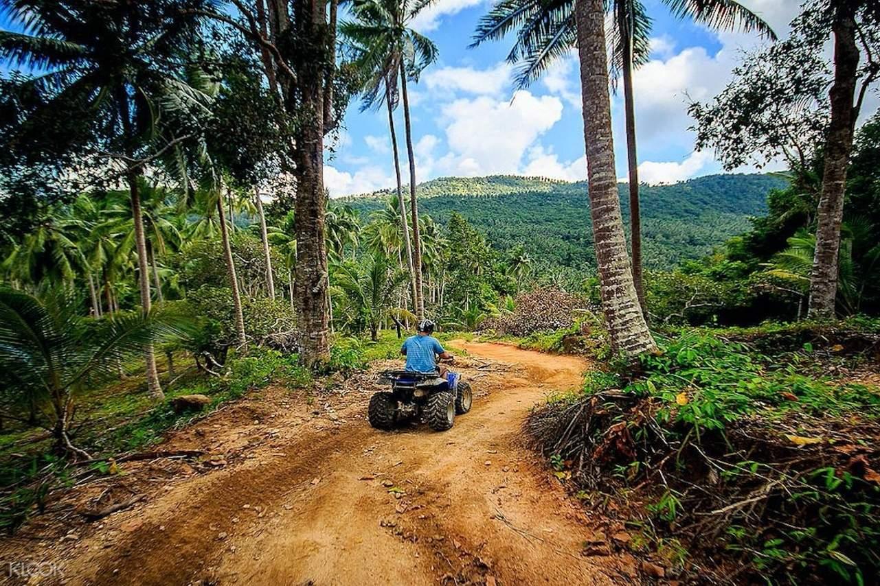 ATV rider in the jungle of Koh Samui