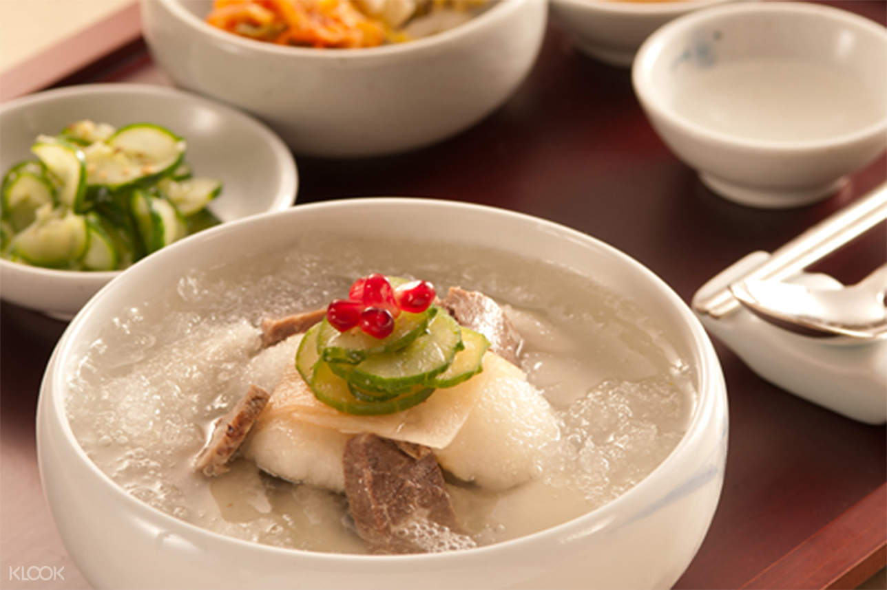 Chilled Buckwheat Noodles Served in a Pear and Radish Kimchi Broth jihwaja