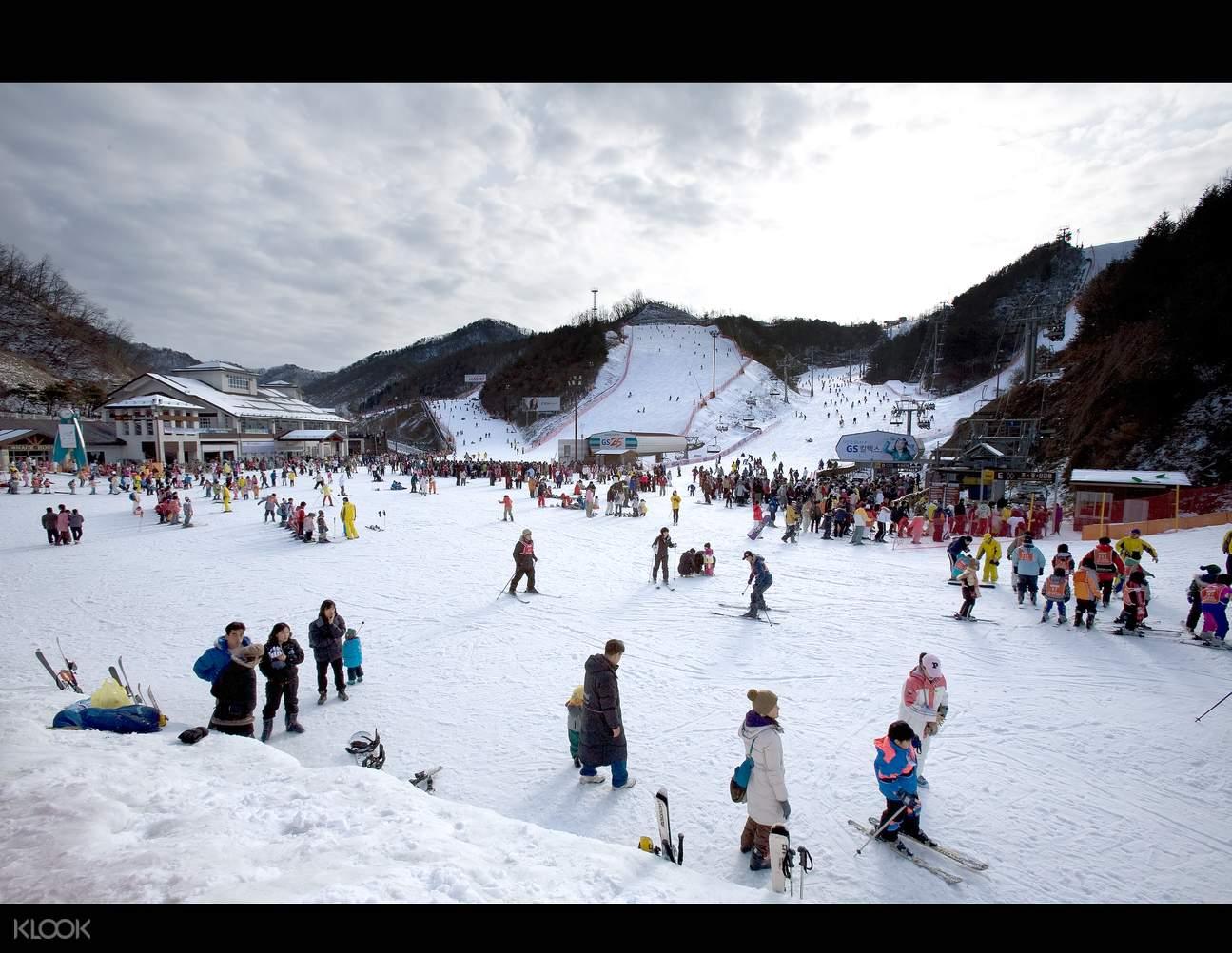 韓國伊利希安江村滑雪場一日遊(Seoul City Tour提供)